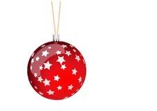 Rode Kerstmisbal Royalty-vrije Stock Afbeelding