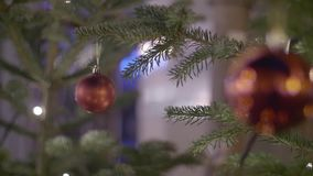 Rode Kerstmisbal stock footage