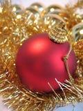 Rode Kerstmisbal Royalty-vrije Stock Fotografie