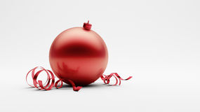 Rode Kerstmisbal Royalty-vrije Stock Foto's