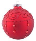 Rode Kerstmisbal Vector Illustratie