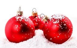 Rode Kerstmisbal Stock Fotografie