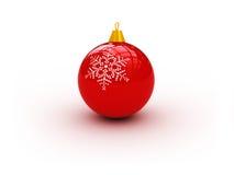 Rode Kerstmisbal royalty-vrije illustratie