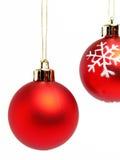 Rode Kerstmisballen Stock Foto's