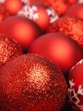 Rode Kerstmisballen Royalty-vrije Stock Foto
