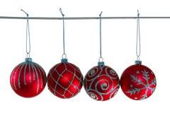 Rode Kerstmisballen Royalty-vrije Stock Afbeeldingen