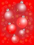 Rode Kerstmisballen royalty-vrije illustratie