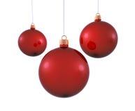 Rode Kerstmisballen Stock Afbeeldingen