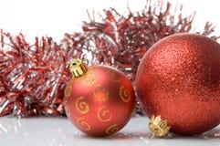 Rode Kerstmisballen Royalty-vrije Stock Foto's