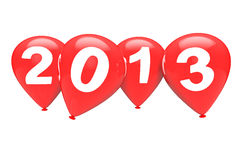 Rode Kerstmisballons Stock Afbeelding