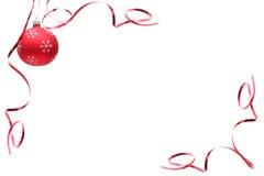 Rode Kerstmisbol Royalty-vrije Stock Afbeeldingen