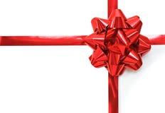 Rode Kerstmisboog Stock Fotografie