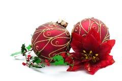Rode Kerstmisdecoratie Royalty-vrije Stock Afbeelding