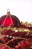 Rode Kerstmisdecoratie royalty-vrije stock afbeeldingen