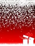 Rode Kerstmisdecoratie en gift Royalty-vrije Stock Afbeeldingen