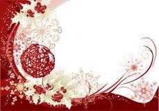 Rode Kerstmisframe achtergrond Stock Afbeeldingen