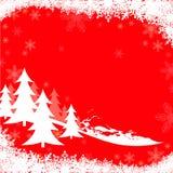 Rode Kerstmisgroet Royalty-vrije Stock Afbeeldingen