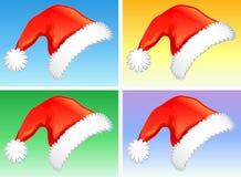 Rode Kerstmishoeden royalty-vrije illustratie