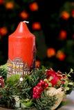 Rode Kerstmiskaars Royalty-vrije Stock Fotografie