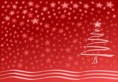 Rode Kerstmiskaart Royalty-vrije Stock Foto