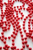 Rode Kerstmisparels Stock Foto