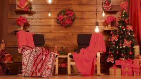 Rode Kerstmisruimte stock videobeelden