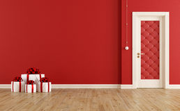 Rode Kerstmisruimte Royalty-vrije Stock Fotografie