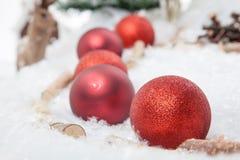 Rode Kerstmissnuisterij Royalty-vrije Stock Afbeeldingen