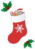 Rode Kerstmissok Stock Foto