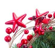 Rode Kerstmisster Stock Afbeelding