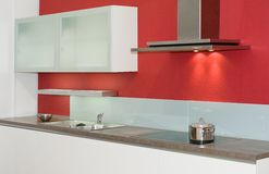 Rode keuken Royalty-vrije Stock Foto