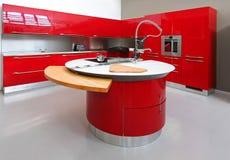 Rode keukenteller Royalty-vrije Stock Afbeeldingen