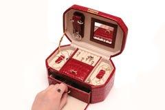 Rode kist Royalty-vrije Stock Afbeelding
