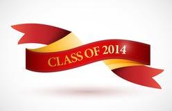 Rode klasse van de illustratie van de het lintbanner van 2014 Stock Fotografie