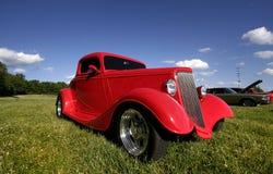 Rode Klassieke Auto Stock Afbeelding