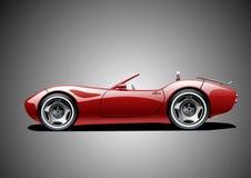 Rode klassieke convertibel vector illustratie