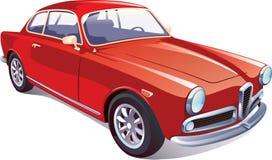 Rode Klassieke Retro Auto stock illustratie