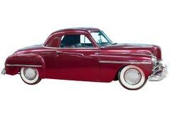 Rode klassieke uitstekende auto Stock Foto's