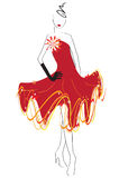 Rode kleding Stock Afbeeldingen