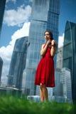 Rode kleding Stock Afbeelding