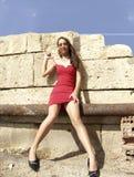 Rode kleding Stock Foto
