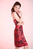 Rode kledingsglimlach Royalty-vrije Stock Afbeeldingen