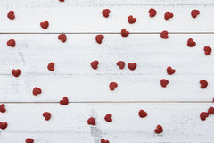Rode kleine harten Royalty-vrije Stock Foto