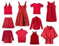 Rode kleren Stock Foto