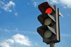 Rode kleur op het verkeerslicht Royalty-vrije Stock Fotografie