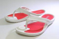 Rode Kleur Sandals Royalty-vrije Stock Afbeelding