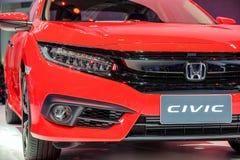 Rode kleur van koplamp de Nieuwe Honda Civic Stock Afbeeldingen