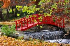Rode kleurenbrug Royalty-vrije Stock Foto