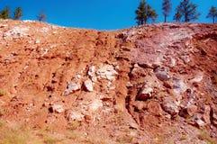 Rode kleurenland van Zuid-Dakota Stock Afbeelding