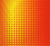 Rode kleurrijke retro vector Stock Foto